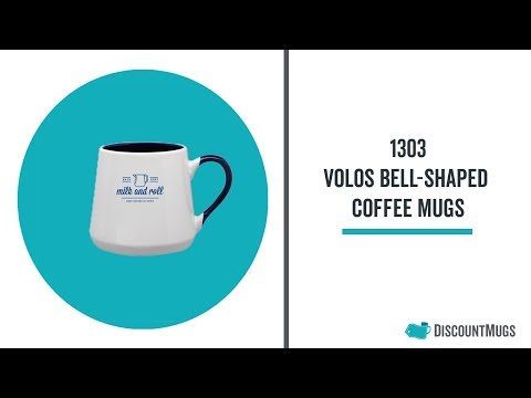Promotional 12 oz. Volos Bell-Shaped Coffee Mugs
