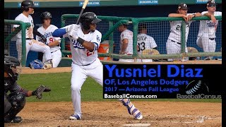 Yusniel Diaz, OF, Los Angeles Dodgers — 2017 Arizona Fall League