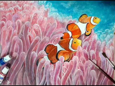 Clown Fish Watercolour Painting | Watercolour Painting |