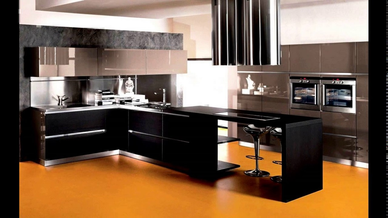 Black And Silver Kitchen Designs Youtube