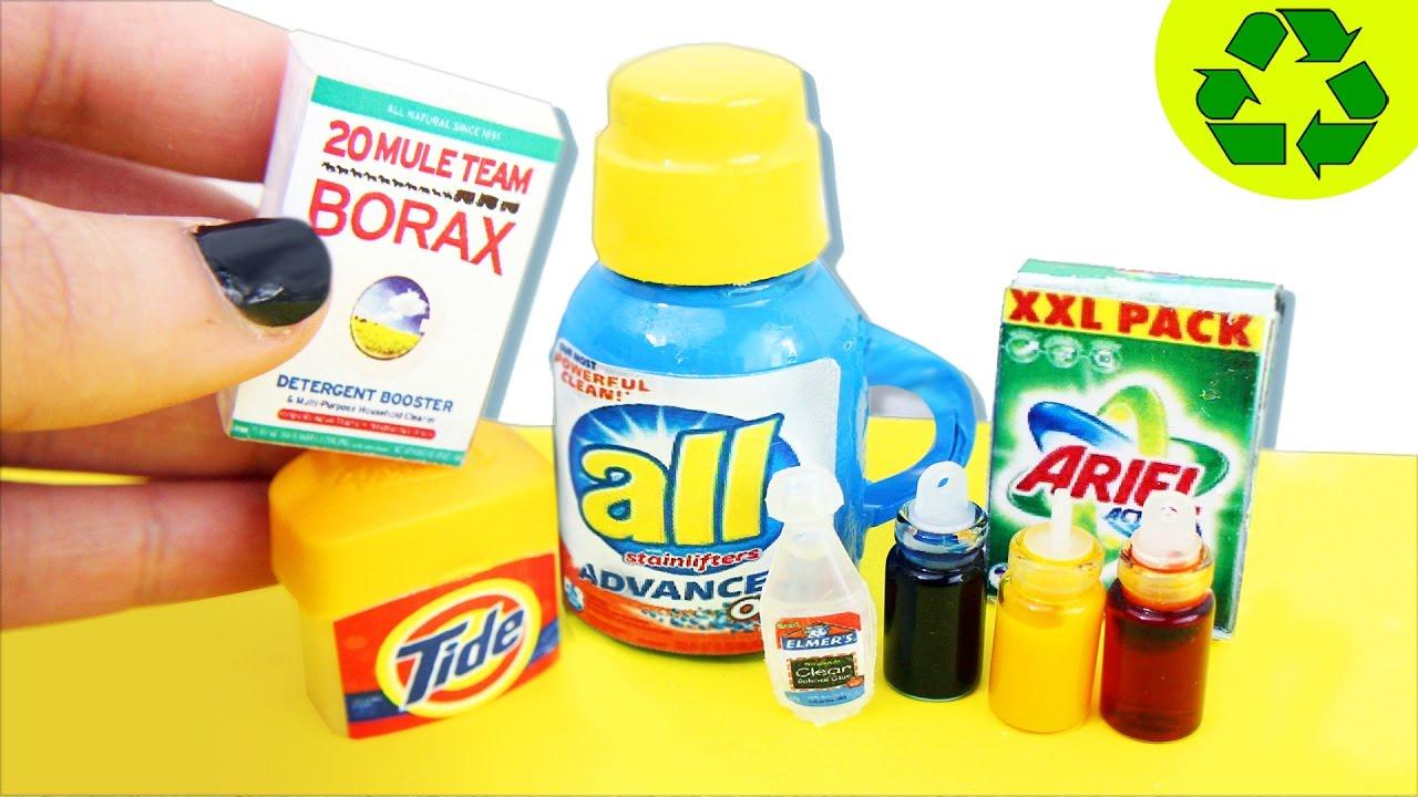 DIY   Productos para hacer Slime en Miniatura - Detegente, Pegamento ...
