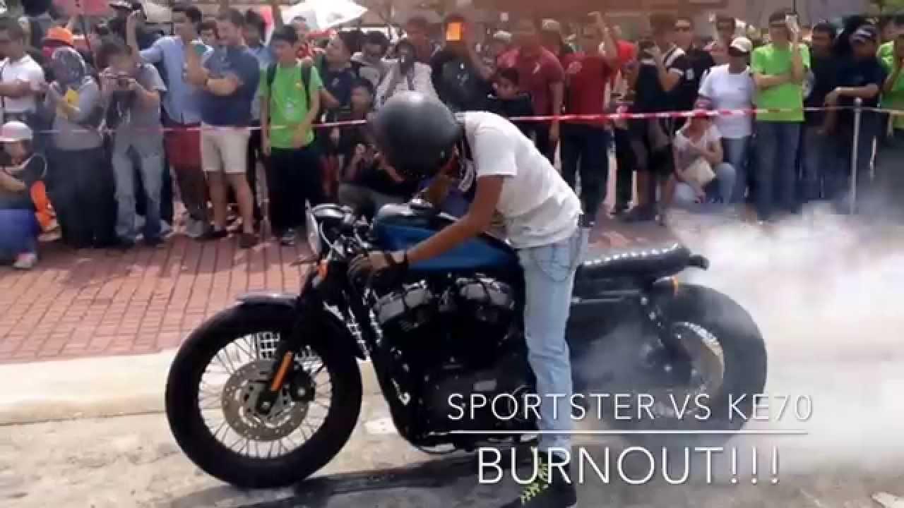 Harley Davidson Sportster Nightster CafeRacer Bratstyle Burnout