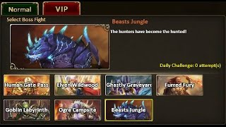 Rise of Mythos - How to Beat Beasts Jungle VIP Boss (Non-VIP Guide)
