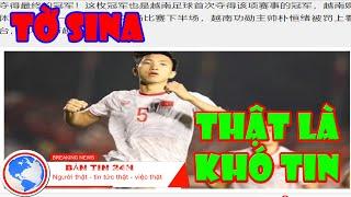 Báo Trung Quốc tờ SINA đăng Thật Khủng khiếp! Khó tin Việt Nam hạ Indonesia 3-0