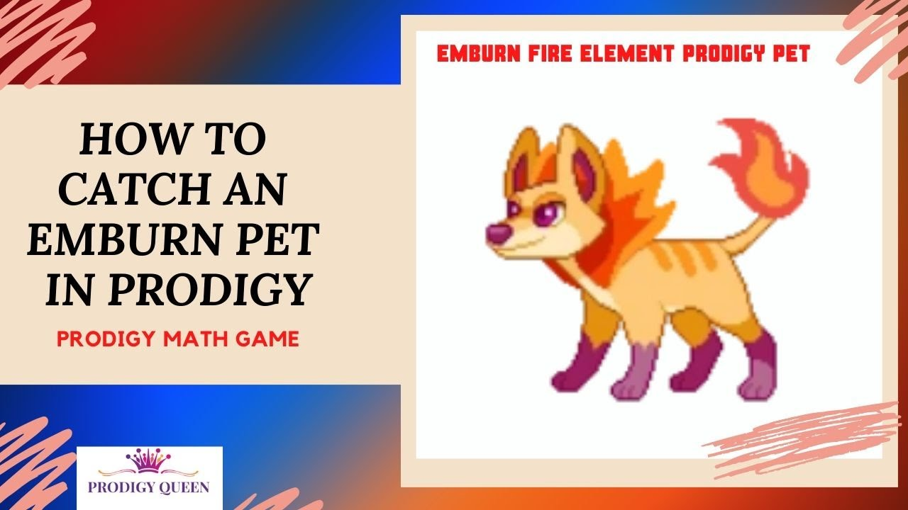 Prodigy Math Game How To Catch An Emburn Pet In Prodigy Fire Element Pet Youtube