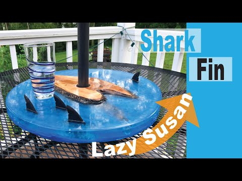 Making A Resin Shark Fin Lazy Susan // How-To Builds