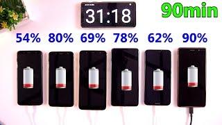Galaxy A6, Galaxy A6 +, Galaxy J6, Oppo F7, P20 Lite, & Nokia 7 Plus Charging Test [Urdu/Hindi]