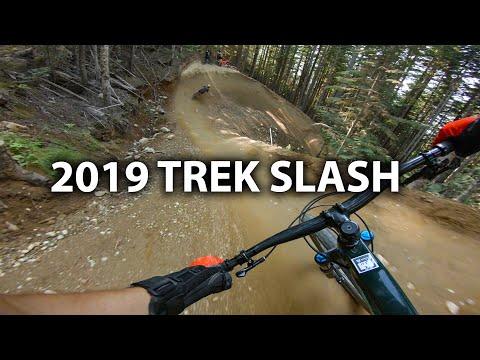Demo Riding a 2019 Carbon Trek Slash 29er - Whistler Bike Park   Jordan Boostmaster