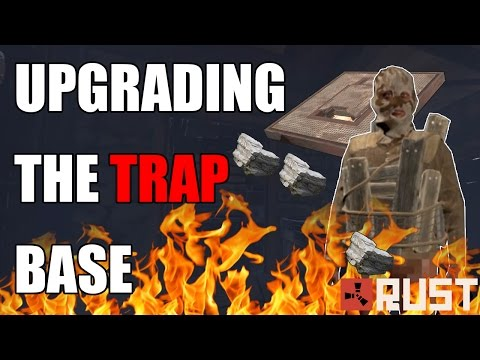 UPGRADING THE TRAP BASE! Rust SOLO SURVIVAL Trap Base Gameplay   Season 1 - Episode 2