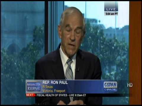 Congressman Ron Paul on C-SPAN Washington Journal July 24 2012