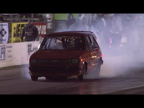 Toyota Starlet 13B Lady Justice 6.579 @ 210.93 MPH NEW PERSONAL RECORD! World Doorslammer Nationals!