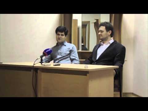 Пресс конференция звезд XXI века Михаила Почекина скрипка и Юрия Фаворина фортепиано