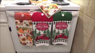 Dollar Tree / General Hanging Towel DIY Red Truck and Thanksgiving