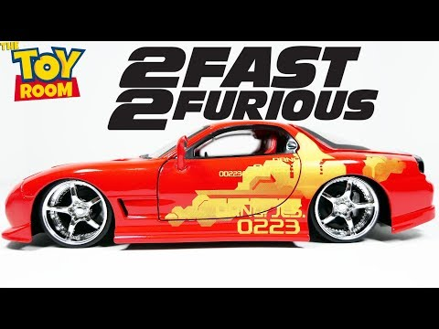 Dom/'s Mazda RX-7 Fast and Furious rot 1:24 Jada Toys