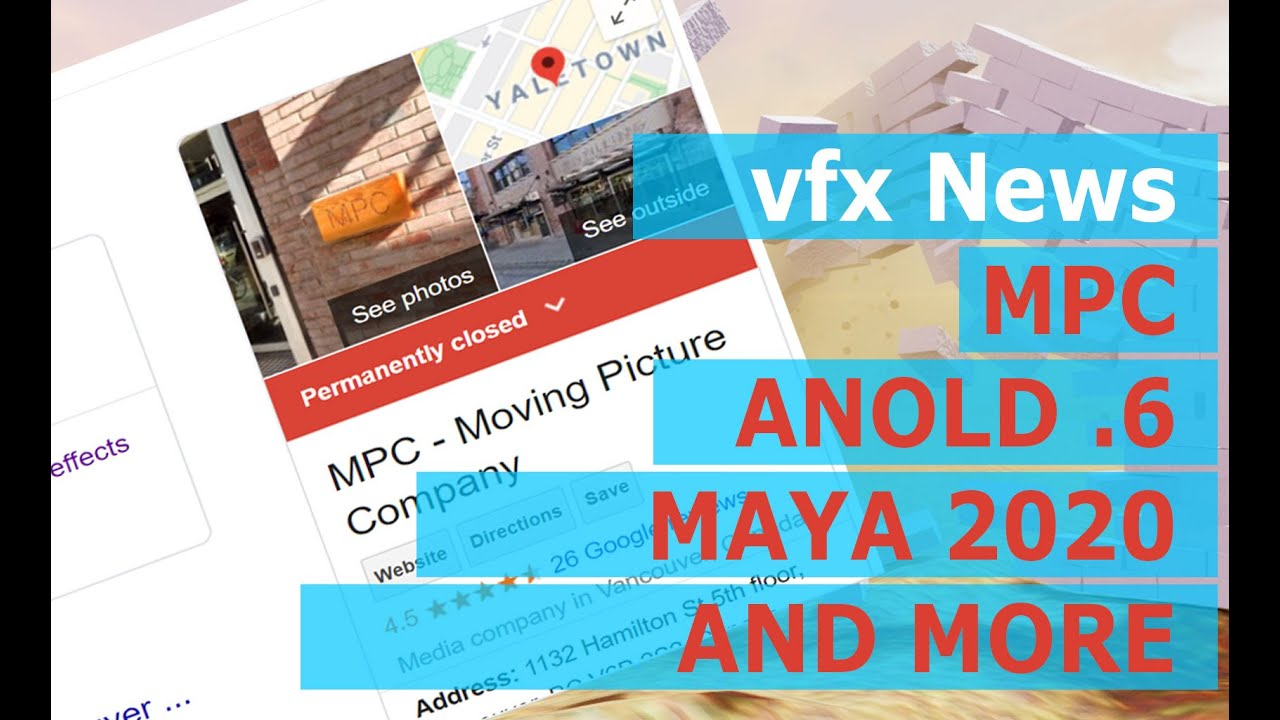 vfx news mpc vancouver closed and new software released