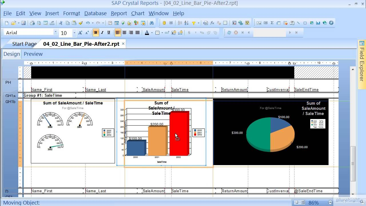 SAP Crystal Reports: Charts and graphs tutorial | Pluralsight