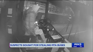 Police search for thieves who took MTA bus for joyride in Brooklyn