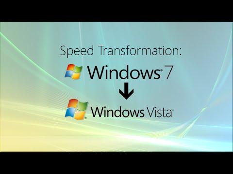 Speed Transformation: Windows 7 To Vista