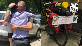 Dad cycles 1,400 miles to hear his daughter