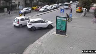 Eskişehir'deki trafik kazaları böyle görüntülendi