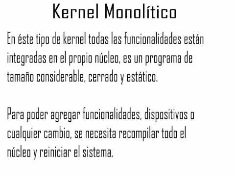 2 Estructura Del Kernel Youtube