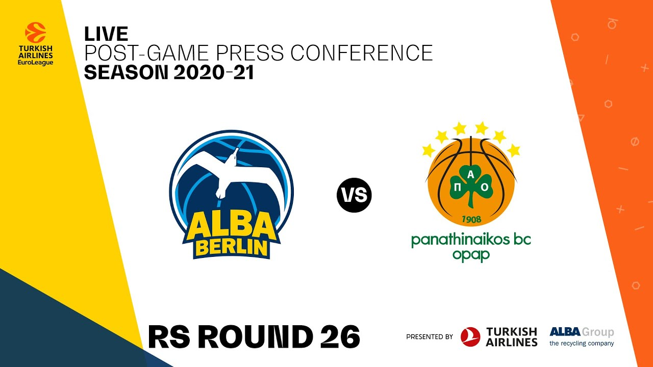 Press Conference ALBA BERLIN - Panathinaikos Athens