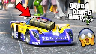 Putting a STICKY BOMB on RC CAR... (GTA 5 Mods - Evade Gameplay)