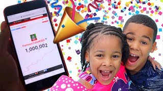 1 MILLION SUBSCRIBERS REACTION | FamousTubeKIDS