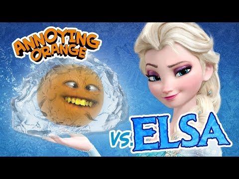 Annoying Orange vs Elsa (Frozen Parody)! ft. Rebecca Parham