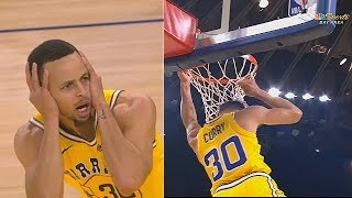 Stephen Curry Can't Believe His Own Basic Dunk! Warriors vs Kings