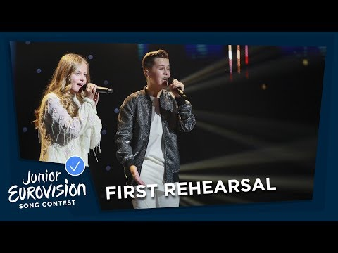 Max & Anne - Samen - First Rehearsal - The Netherlands 🇳🇱 - Junior Eurovision 2018