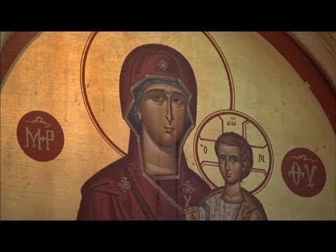 Holy Trinity Greek Orthodox Church crying Virgin Mary icon attracts crowds