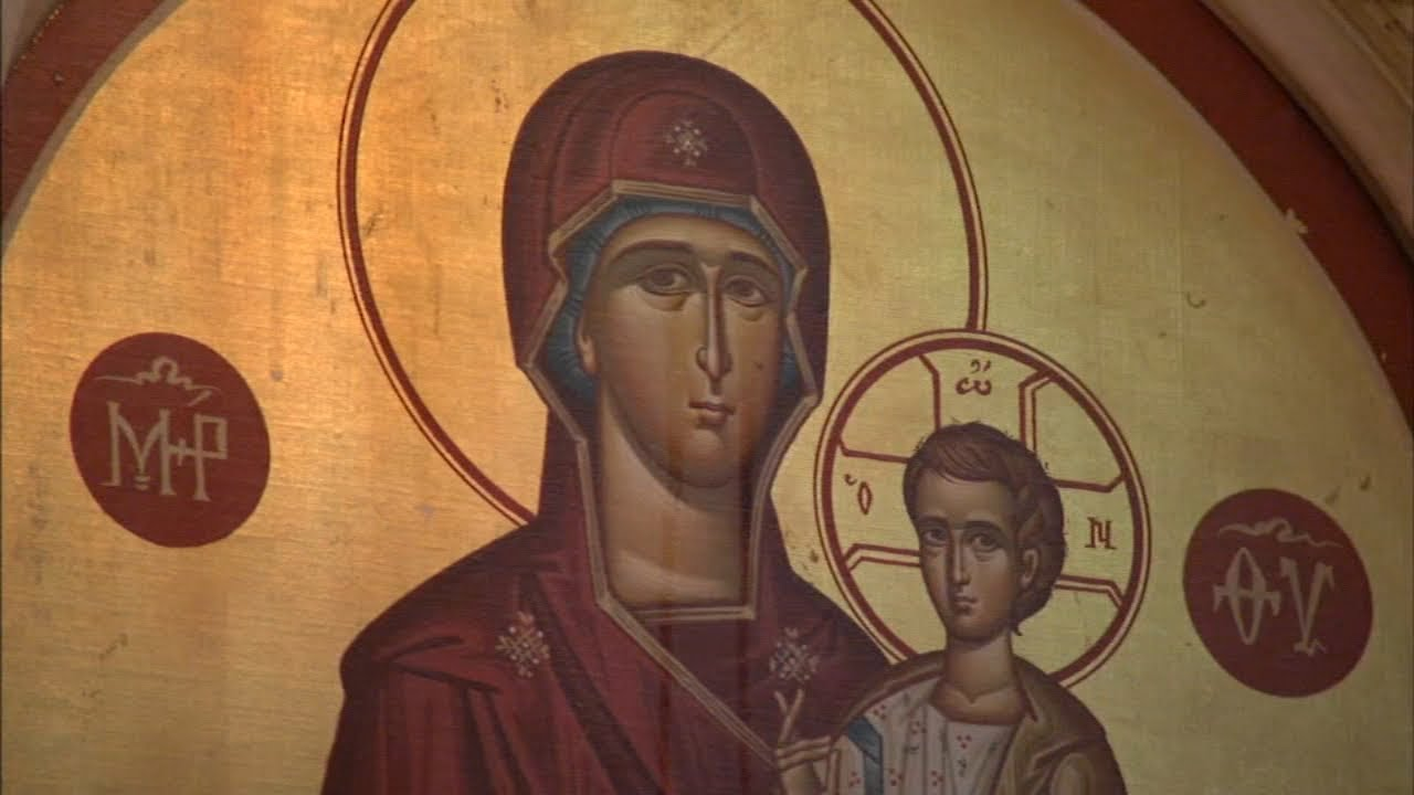 Holy Trinity Greek Orthodox Church crying Virgin Mary icon attracts crowds