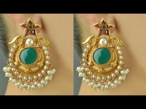 Modern Silver Gold Plated Hanging Pearl Earring Designs||Latest Earrigns Design||Earrings||