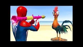 GTA V Water Ragdolls SPIDERMAN & HEN GTA 5 Superhero Battle, Euphoria Physics, JumpFails