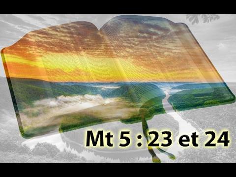 """Pensée sur Mt 5 \: 23 et 24 \""""Si tu présentes ton offrande à l\'autel\"""""""