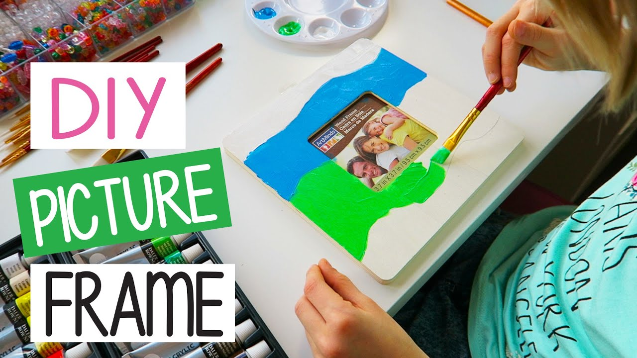 How to make DIY Picture Frame | Easy Kids Crafts - YouTube
