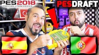 PORTEKİZ-İSPANYA DÜNYA KUPASI CHALLENGE! | | PES 2018 PESDRAFT