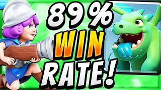 89% WIN RATE! EASY GRAVEYARD CONTROL DECK — Clash Royale