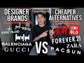 DESIGNER BRANDS VS CHEAP ALTERNATIVES! My Honest Opinion