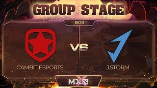 Gambit vs J.Storm Game 2 - MDL Chengdu Major: Group Stage
