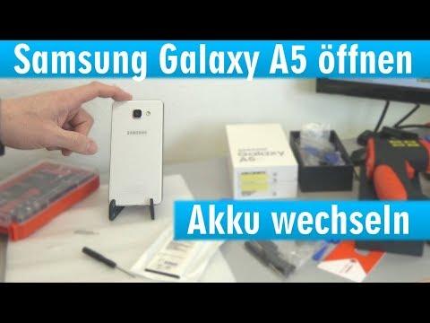 Samsung Galaxy A5 öffnen - Akku wechseln - schnell leer und heiß - [4K]