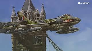 RAF pilot remembers flying Hawker Hunter jet through Tower Bridge | ITV News