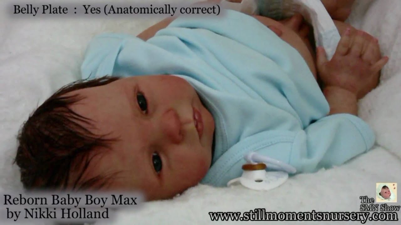 Reborn Baby Boy Max By Nikki Holland Presentation The