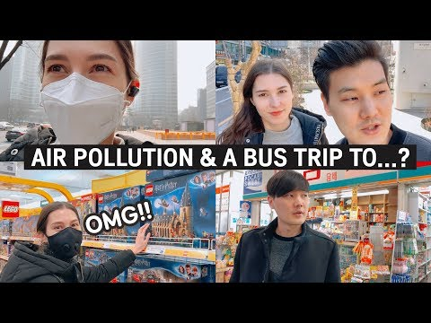 Korea's Air Pollution 😷 | & A Bus Trip To...? [국제부부] 미세먼지가 너무 심했던 한 주의 일상