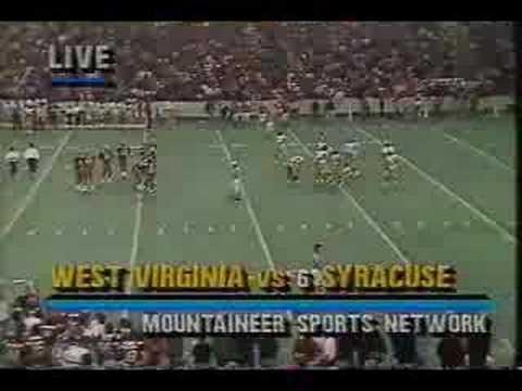 1987 Syracuse vs West Virginia Football Ending