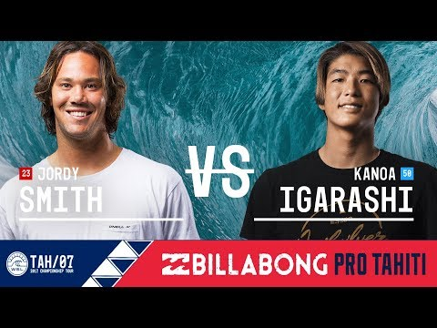 Jordy Smith vs. Kanoa Igarashi - Round Three, Heat 12 - Billabong Pro Tahiti 2017