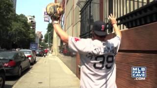 Jarrod Saltalamacchia Plays Catch With New York