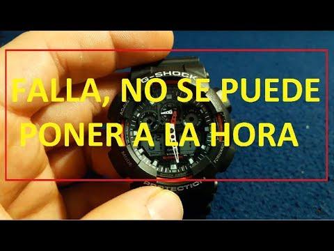 Solucion Manecillas Puede Shock Se EspañolNo En Poner Ajuste G HoraReseteo Calibracion Casio y0wPv8OnmN