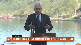 Presidente Piñera inaugura la conexión de la Fibra Óptica Austral
